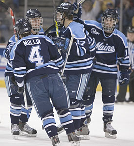 After toppling Michigan State, Maine heads back to the Frozen Four alongside fellow Hockey East school Boston College (photo: Melissa Wade).