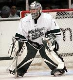 Rookie netminder Jeff Lerg has helped key the Spartans' resurgence.