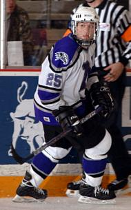 Ted Cook has jumped right onto the scoresheet in his debut season for the Purple Eagles (photo: Jim McCoy).