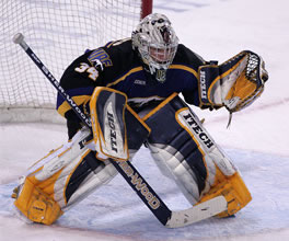 Wylie Rogers backstopped Alaska past Western Michigan in Game 3 Sunday.