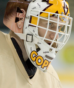 Kellen Briggs has solidified the Gophers during their current 11-1 run (photo: Melissa Wade).