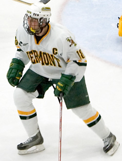 Three-year captain Jaime Sifers helps UVM hum from the blueline and beyond (photo: Melissa Wade).