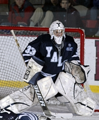 Alec Richards is the ECACHL Goaltender of the Week (photo: Dave Silverman).