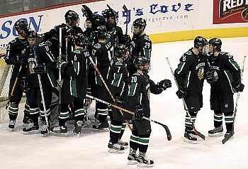 North Dakota fans hope the Sioux can continue their winning ways while wearing their new and improved black uniforms (photo: John Dahl, SiouxSports.com).