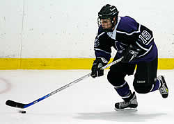 Forward Joel Covelli has Amherst challenging for the league title