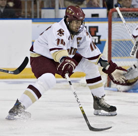 Brian Boyle has excelled at both ends of the ice for Boston College this season (photo: Melissa Wade).