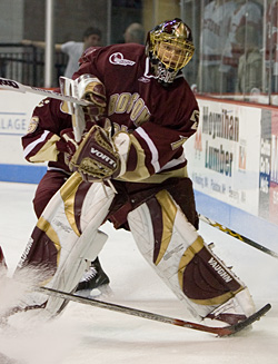 Will Cory Schneider and Boston College hoist the NCAA championship trophy? (photo: Melissa Wade)