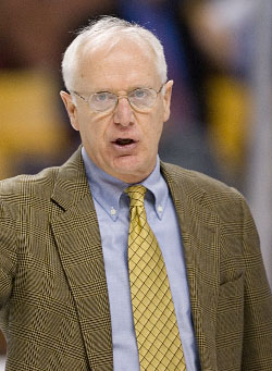 Boston University head coach Jack Parker was less than pleased with the events of last weekend (photo: Melissa Wade).