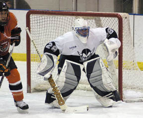 Kevin Amborski will get the start in goal for Fredonia. (photo: Jerry Reilly)