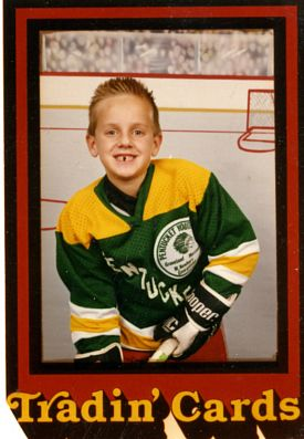 Ryan proudly flashes the classic hockey player's gap-toothed smile.