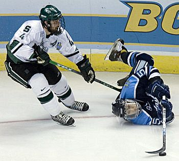 After a scorching start, Maine found itself upended by Michigan State Thursday (photo: Melissa Wade).