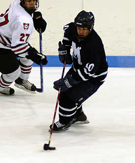 Middlebury Captain Mickey Gilchrist hopes to revive the playoff magic from the past three seasons against Williams.