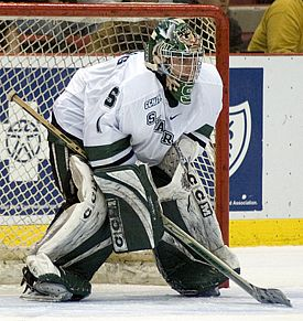 Can Jeff Lerg backstop Michigan State into the Frozen Four once again? (photo: Ray Bartnikowski)