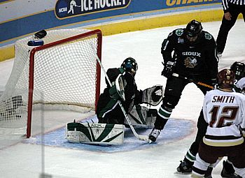 The penalty kill is a chancy affair, particularly when the stakes are high (photo: Skip Strandberg).