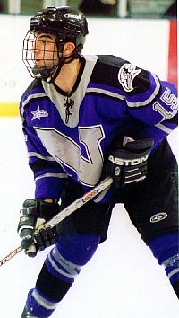 Niagara's defense was a big reason the Purple Eagles went undefeated on home ice this season, and Pat Oliveto was a big part of the NU blue line (photo: Matt Mackinder).