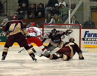 David Thompson hopes to backstop the Cadets to victory in their ECAC East match-ups with UMass-Boston and Babson. (photo: Norwich University)