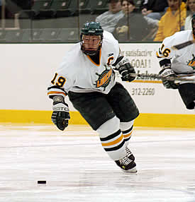 Ryan Woodward scored the second goal for Oswego in its win over rival Geneseo in what may be a playoff preview. (photo: Jim Feeney/Oswego State Sports Information)