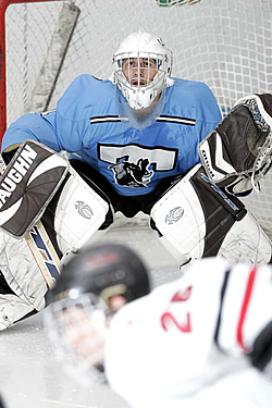 Jumbo goalie James Kalec will look to continue his stellar play and help Tufts back into the playoff picture.