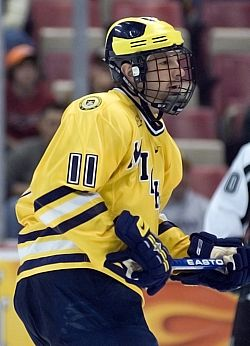 No. 1 Michigan, led by Hobey Baker finalist Kevin Porter, is the favorite headed into the Frozen Four (photo: Ray Bartnikowski).