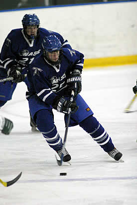 Captain Andrew Ward leads a young and excited Beacons team to Bowdoin for opening night.