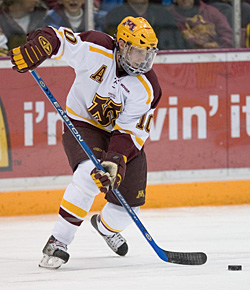 Alex Goligoski is the second Gopher blueliner to turn pro this offseason (photo: Melissa Wade.)