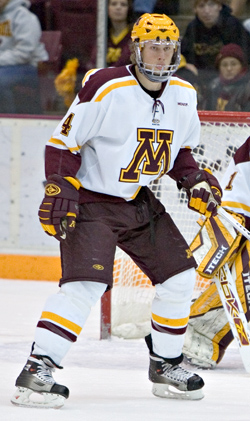Erik Johnson departs the Gophers after a single season (photo: Melissa Wade.)