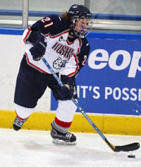 Senior co-captain Jaclyn Hawkins and UConn are a force to be reckoned with in Hockey East.