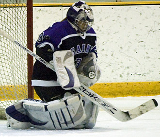 """St. Thomas goalie Lauren Bradel led the Tommies to an upset of the Gusties on Saturday. (Ryan Coleman / <a href='http://www.pictureprints.net/albums.php?gallery=1553'>D3Sports.com</a>)"""" /></p> <div class="""