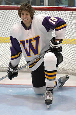 Forward Brandon Jackmuff looks to continue his timely scoring and return the Ephs to the top of the league standings.
