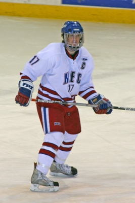 Senior forward Mike Carmody has opposing coaches conscious of his every move on the ice for NEC.