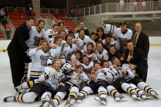 The Adrian Bulldogs captured the MCHA Harris Cup in just their first season (photo: Sarah Miesle.)