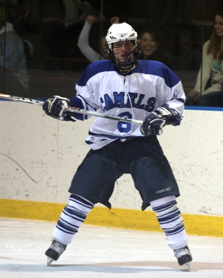 Freshman Ryan Riffe is second on the team in goals for Conn. College (photo by Paul Brandon).