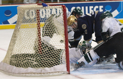 This go-ahead goal in the second period was disallowed. Photo by: Candace Horgan