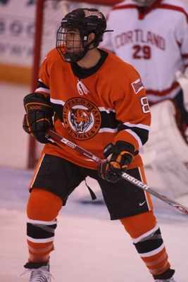 Freshman Nick Petriello leads Buffalo State with as 26 points (11 goals, 15 assists) on the season.