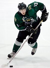Bemidji State recruit Shea Walters (here with North Iowa of the NAHL) isn't concerned about the school's hockey future (photo: North American Hockey League).