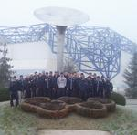 The Utica hockey team at the 1992 Olympic site in Albertville, France.
