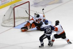 Matt Fairchild scores shorthanded, one of his two on the night. (photo: Ange Lisuzzo)
