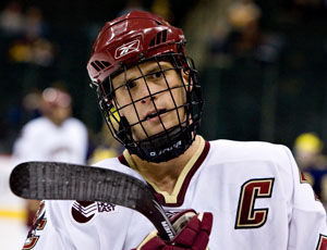 Boston College captain Mike Brennan has helped the Eagles to the Frozen Four once again (photo: Melissa Wade).