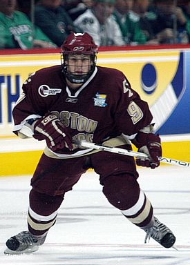 BC's Nathan Gerbe scored four points against the Sioux (photo: Candace Horgan).