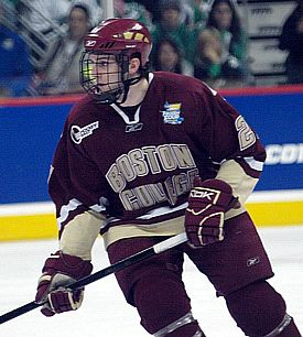 Andrew Orpik is part of a history of familial success at Boston College (photo: Candace Horgan).
