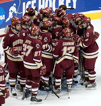 Boston College was too much for Jean-Philippe Lamoureux and North Dakota Thursday night (photo: Melissa Wade).