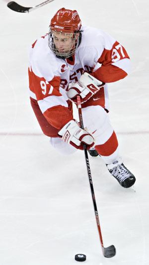 BU's Matt Gilroy has been mentioned as a candidate for college hockey's top honor.