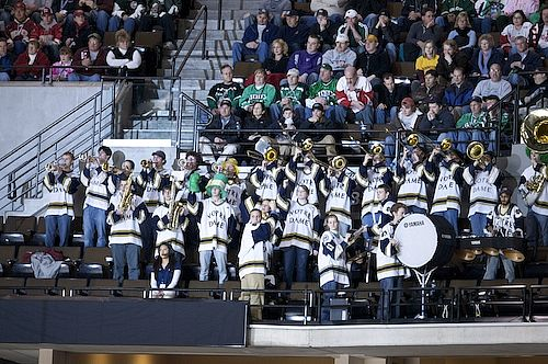 Notre Dame had its share of supporters Thursday night against Michigan (photo: Jim Rosvold).