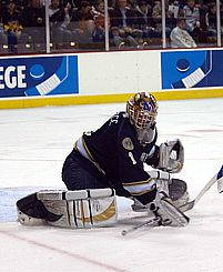 Jordan Pearce has quietly starred in net for Notre Dame (photo: Candace Horgan).