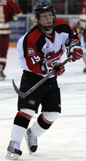 Ryan Lasch led St. Cloud State's one-two-three scoring punch in the WCHA (photo: Jason Waldowski).