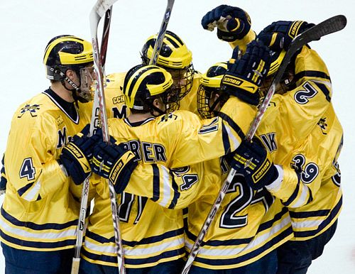 Prohibitive favorite Michigan pulled away from Niagara Friday to earn a spot in the East Regional final (photo: Melissa Wade).