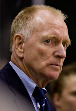 Red Berenson's Wolverines are the co-favorites, along with Notre Dame, in the CCHA (photo: Melissa Wade).