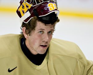 A young team at Minnesota will need Alex Kangas even more than last year (photo: Melissa Wade).