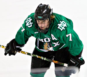 T.J. Oshie is one of North Dakota's two Hobey Baker finalists (photo: Melissa Wade).