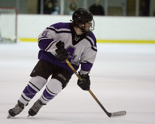 Amherst freshman Eddie Effinger scored his first NCAA tournament goal in closing out Babson on Wednesday night by a 4-1 score (photo: Tim Costello).